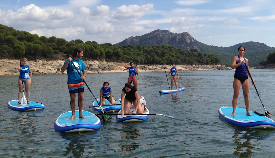 SUP, Madrid, Grupos, Paddle Surf, Stand Up Paddle, despedidas de soltero, cumpleaños