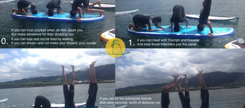 How to make a Triple SUP Headstand, by Rudyard Kipling